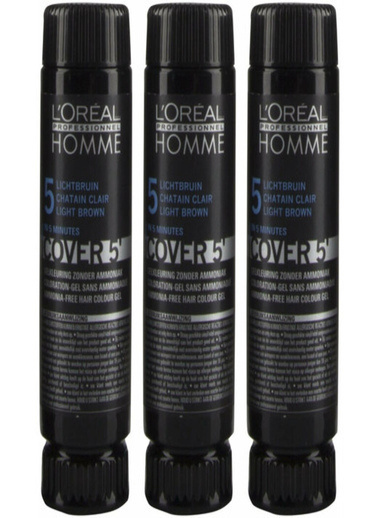 Loreal Serie Expert Homme Cover 5 Lıght Brown No:5 3X50 Ml Kahve